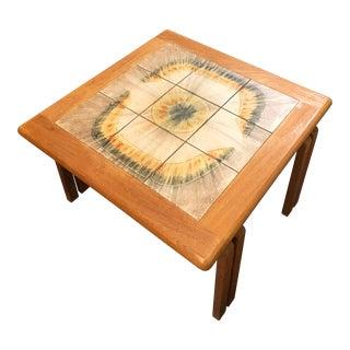 Mid-Century Modern Danish Tile Coffee Table