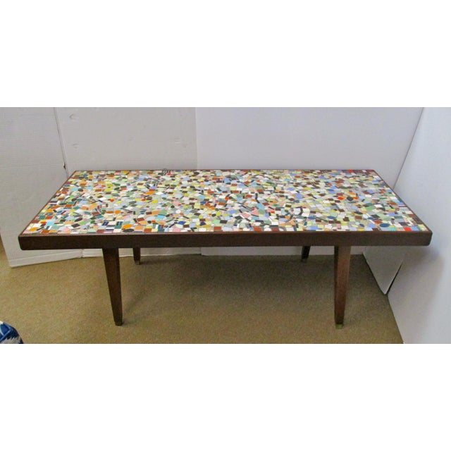 1960's Mosaic Tile Top Coffee Table - Image 2 of 6