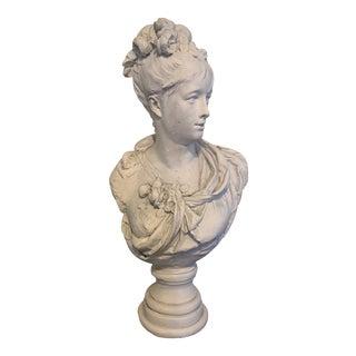 Vintage White Plaster Italian Bust For Sale