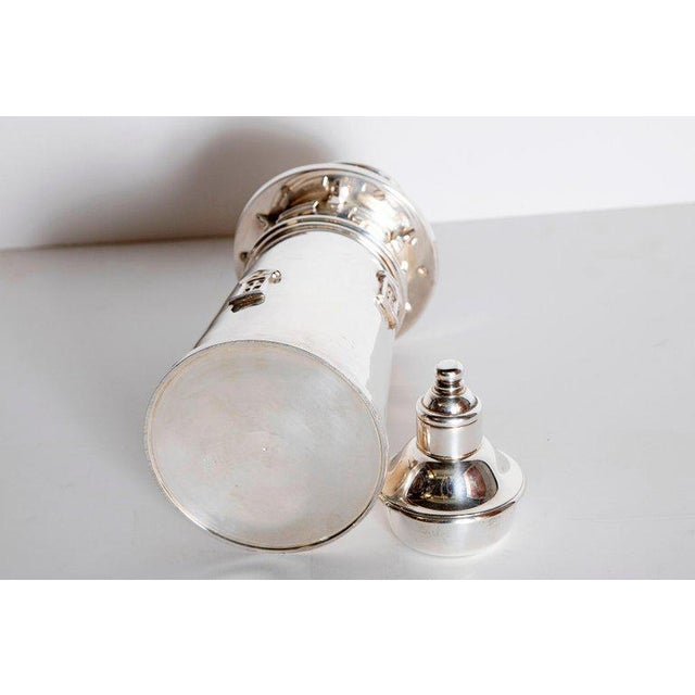 Silver-Plated Boston Lighthouse Cocktail Shaker For Sale - Image 10 of 13