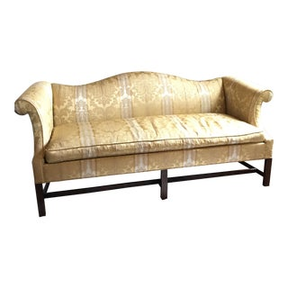 Chippendale Southwood Camelback Mahogany Sofa