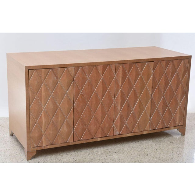 Mid-Century Modern Cerused Oak Four-Door Buffet or Credenza, Jamie Herzlinger For Sale - Image 3 of 11