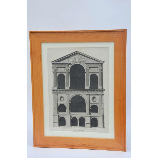 Neoclassical Set of Three Early 19th Century Architectural Prints by Louis-Pierre Baltard De La Fresque For Sale - Image 3 of 4