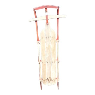 Vintage Weathered Wood & Metal Runner Sled -- Flexible Flyer