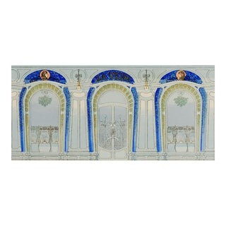 French Art Nouveau Decorative Pochoir For Sale