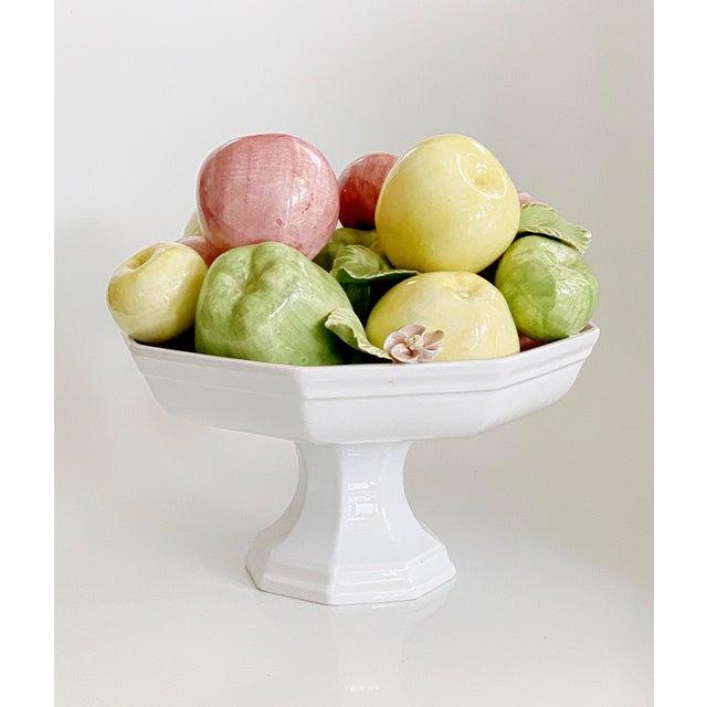 Vintage Italian Majolica Ceramic Fruits Centerpiece Platter Pottery For Sale - Image 13 of 13