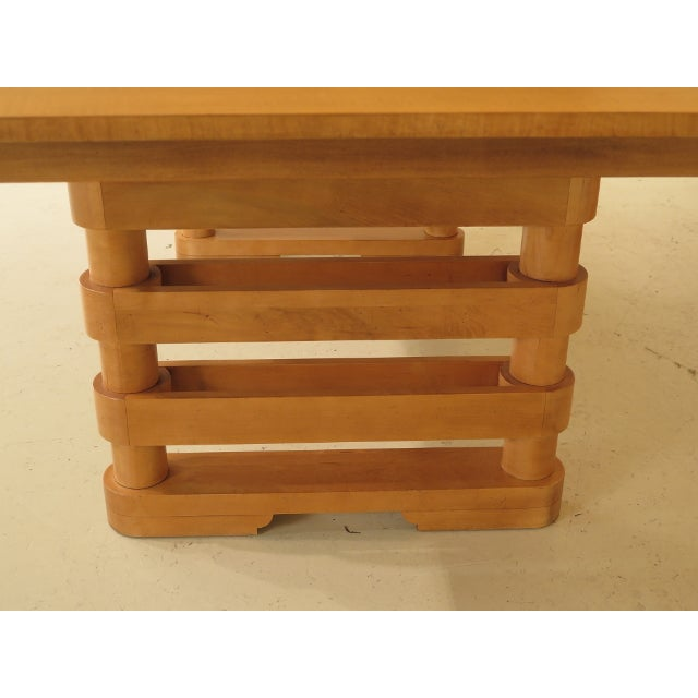 2000 - 2009 Baker Modern Design Satinwood Mahogany Dining Room Table For Sale - Image 5 of 13