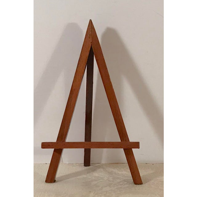 """Nice wooden mini table easels with a simple modern design. The smaller one is 1.75"""" x 2.5"""" x 3.75""""."""