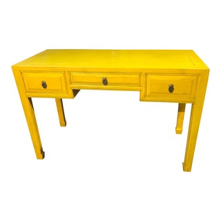 Ming Style Yellow Writing Desk For Sale