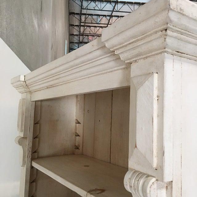 Rustic Tall White Shelf - Image 9 of 9