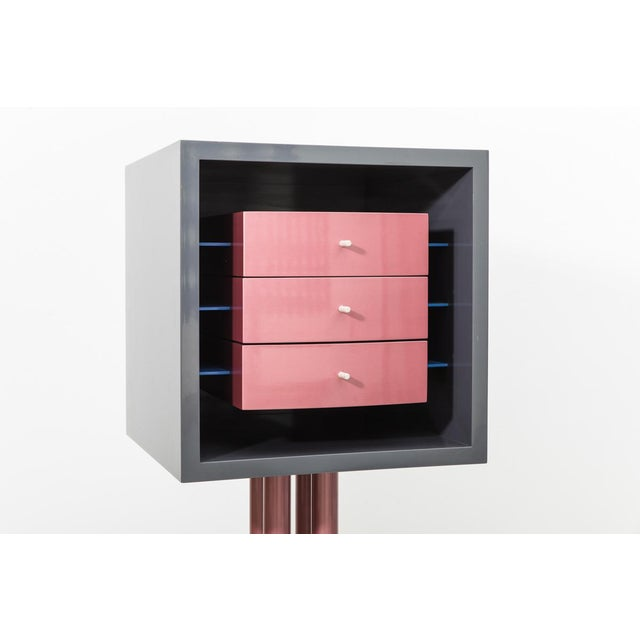 1980s Shiro Kuramata, Nikko Cabinet for Memphis, 1982 For Sale - Image 5 of 6