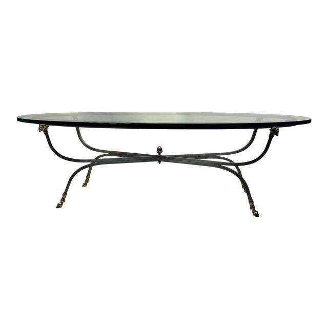 1960s Italian Oval Ram's Head & Hoof Coffee Table For Sale