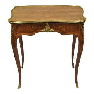 20th Century Louis XV 2-Drawer Inlaid Console Table For Sale