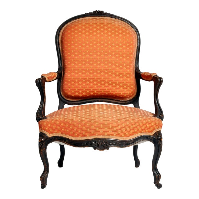 Louis XV Style Fauteuil With Cabriole Legs For Sale
