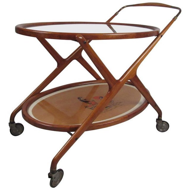 Wood Italian Modern Serving Cart by Cesare Lacca For Sale - Image 7 of 9