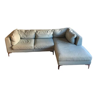 Design Within Reach Leather Sectional For Sale