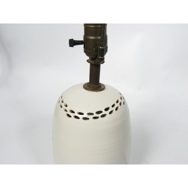 Mid-Century Pottery Lamp - Image 3 of 5