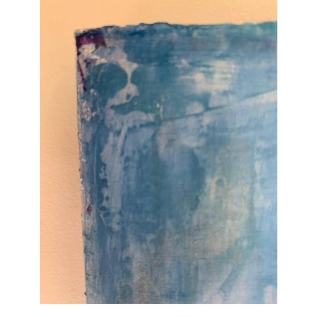 Abstract 2019 Carol Post Venetian Plaster and Acrylic Painting For Sale - Image 3 of 6