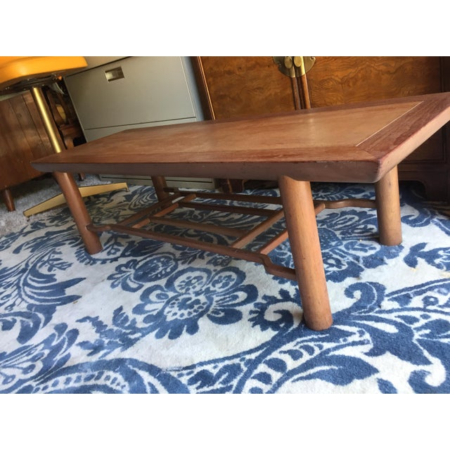 Heritage-Henredon Heritage Henredon Mahogany Coffee Table For Sale - Image 4 of 12