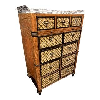 Tall Vintage Carol Bolton Hicks for Ej Vintage Chest of Drawer For Sale