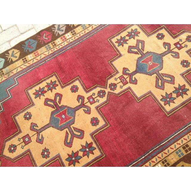 Vintage Anatolian Area Rug - 4′ × 7′7″ For Sale - Image 4 of 7