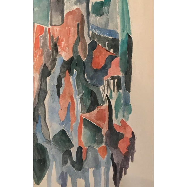 Abstract painting by Polish painter Tadeusz Brzozowski (1918-1987). He was born in Poland and died in Rome. This...