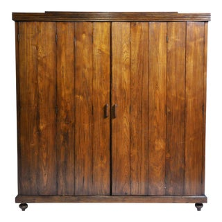Art Deco Cabinet With Five-Panel Folding Doors From Burma For Sale