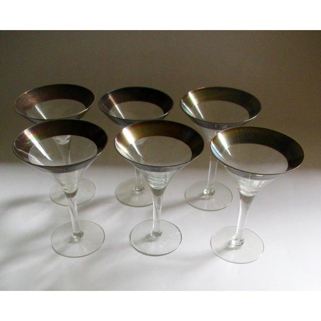 Dorothy Thorpe Silver Rim Champagne Glasses - Set of 6 - Image 7 of 10