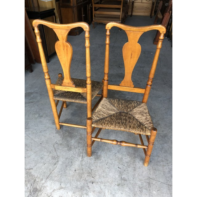Late 18th Century Country Queen Anne Chairs- A Pair For Sale - Image 4 of 11
