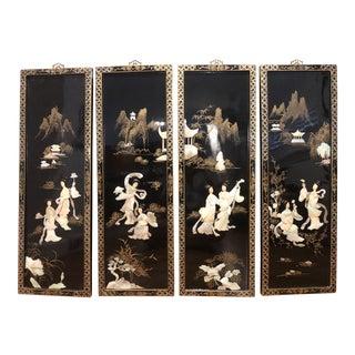 Asian Decorative Panels - Set of 4 For Sale