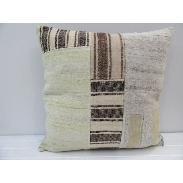 Handmade Patchwork Turkish Kilim Pillow Cover For Sale - Image 4 of 4