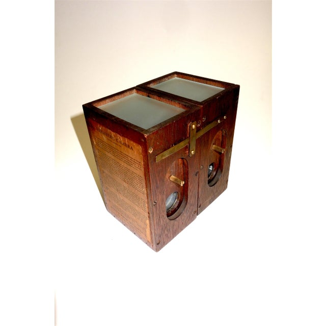 Brass Vermeers Camera. A Circa 1920s Camera Obscura Invented by Anson K. Cross. Rare Hand Made Original For Sale - Image 7 of 12