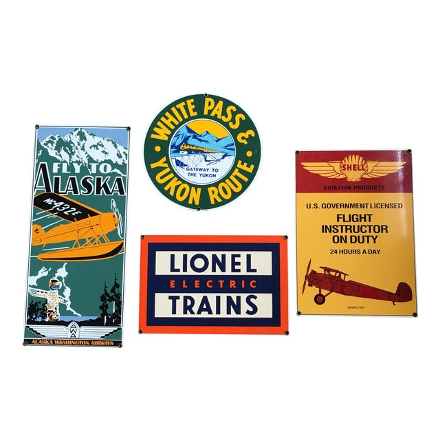 Ande Rooney Vintage Tin Signs - Set of 4 - Image 1 of 11