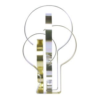 Dan Murphy (American 20th C) Gold & Clear Anodized Aluminum Sculpture For Sale