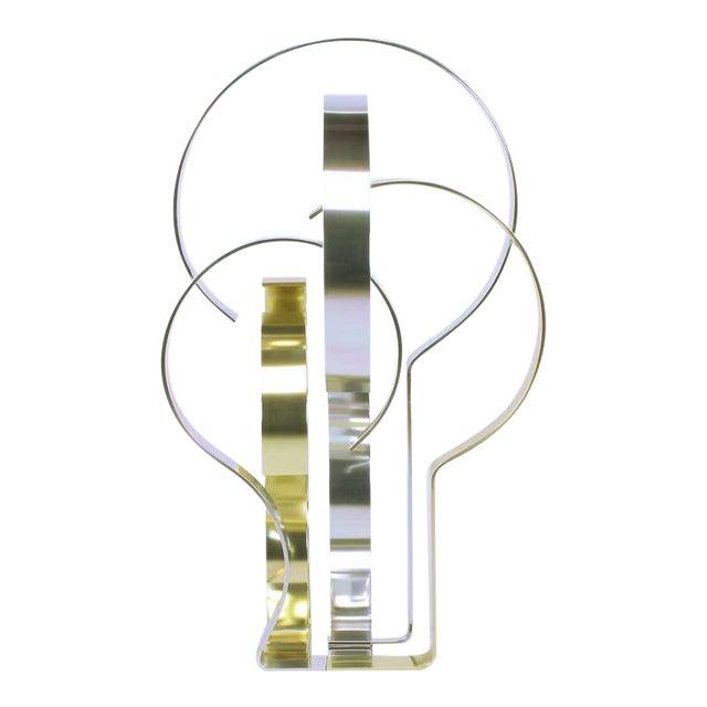 Dan Murphy (American 20th C) Gold & Clear Anodized Aluminum Sculpture For Sale