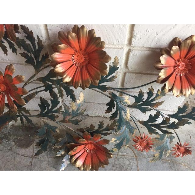 1960's Vintage Metal Flower Wall Art - Image 3 of 3