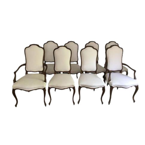 French Style Dining Room Chairs Set of 8 - Image 1 of 3