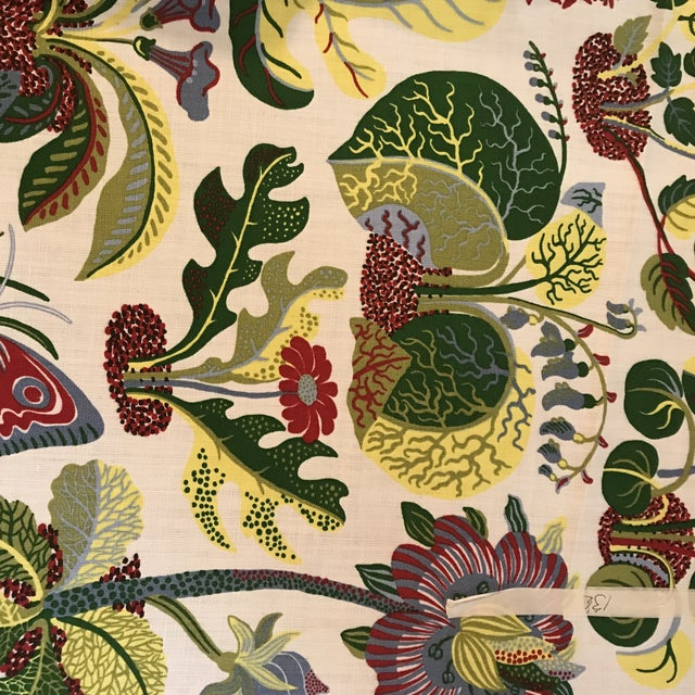 Schumacher Schumacher Exotic Butterfly Print Fabric 13 1/2 Yards For Sale - Image 4 of 10