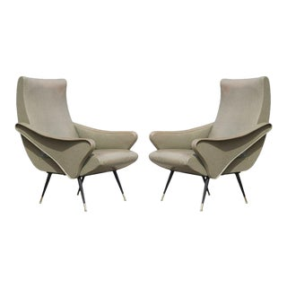 Sculptural Pair of Italian Chairs For Sale
