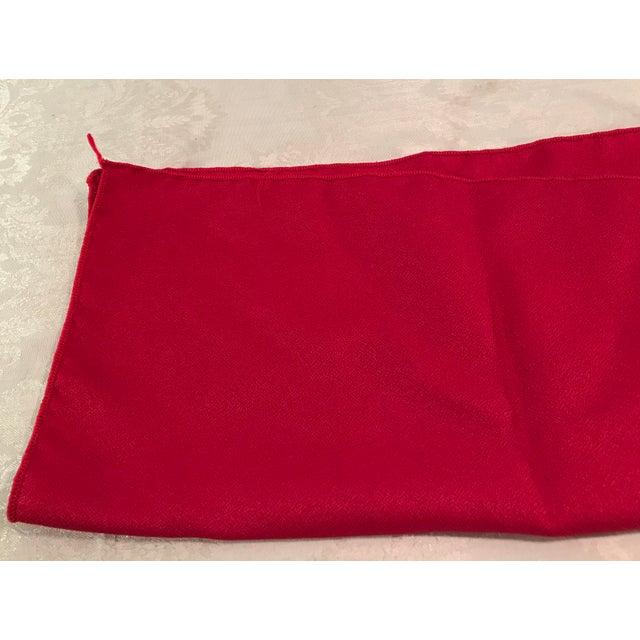 Vintage Red Napkins - Set of 4 For Sale - Image 4 of 6