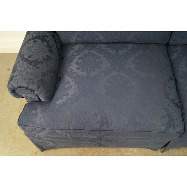 Blue Damask Traditional Upholstered Councill Sofa - Image 10 of 10