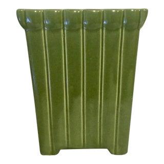 Vintage Mid-Century Grass Green Glazed Ceramic Vase by Ungemach For Sale