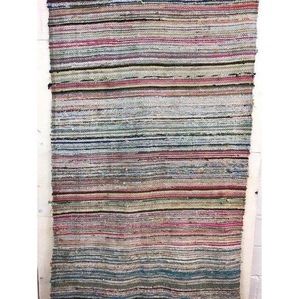Antique Hand Woven Turkish Kilim Runner Rug - 3′4″ × 9′8″ - Image 5 of 6
