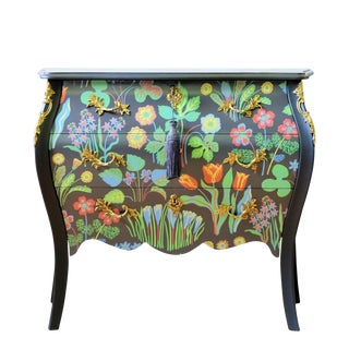 Josef Frank Floral Painted Rococo Bureau For Sale