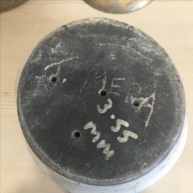 Vintage White Raku Pot Planter - Image 6 of 7