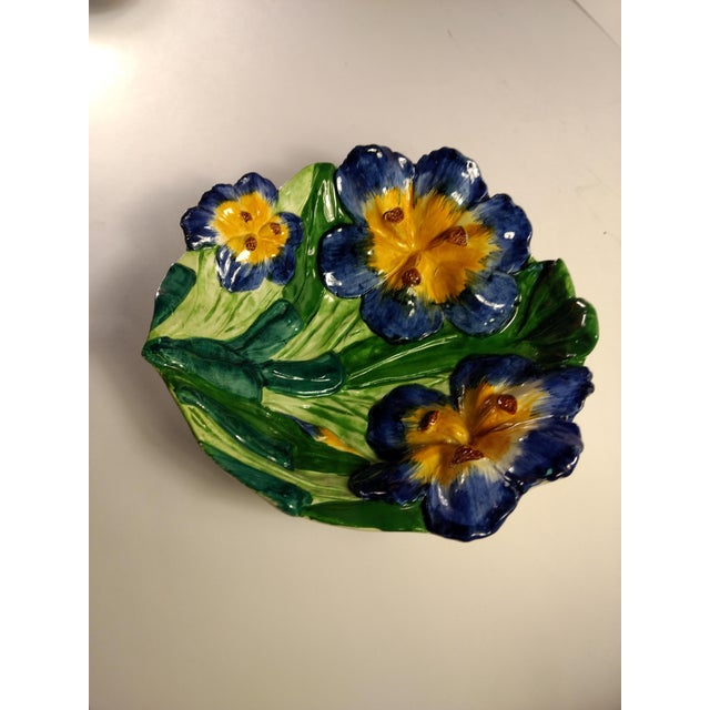 Vintage Italian Hand Painted Iris Bowl - Image 4 of 10
