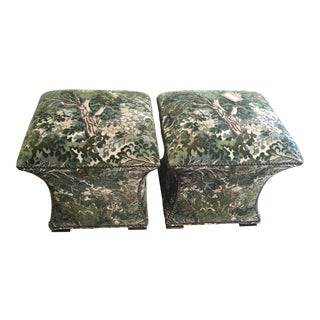 Ambella Home Cinched Hassocks Ottoman- A Pair For Sale