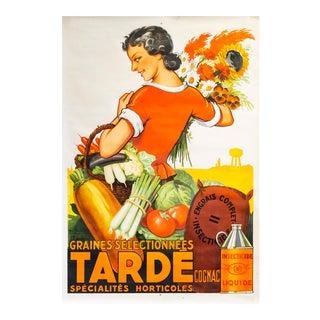 1928 Original Vintage Poster for Fertilizer, Tardé For Sale