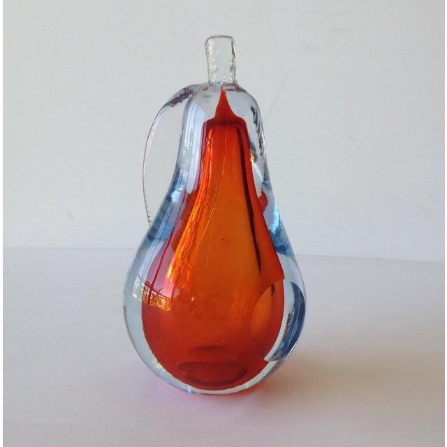 Alfredo Barbini Hand-Blown Murano Pear Bookend - Image 5 of 10