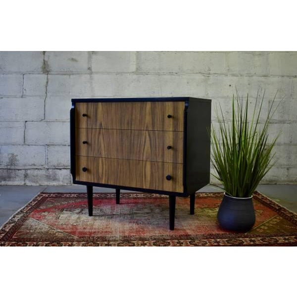 "Brown Mid Century Modern Dresser by Kent Coffey ""Teakway"" For Sale - Image 8 of 8"